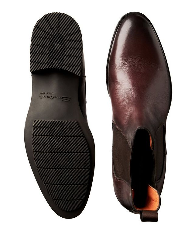 Burnished Leather Chelsea Boots picture 3