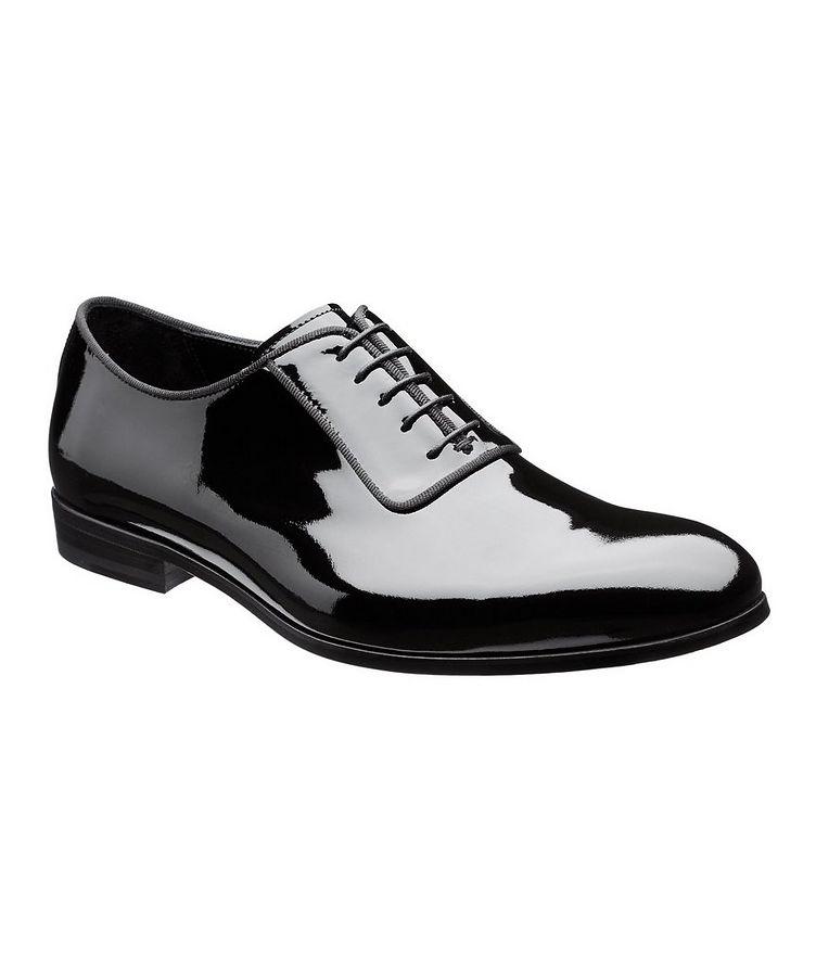 Chaussure lacée en cuir verni image 0