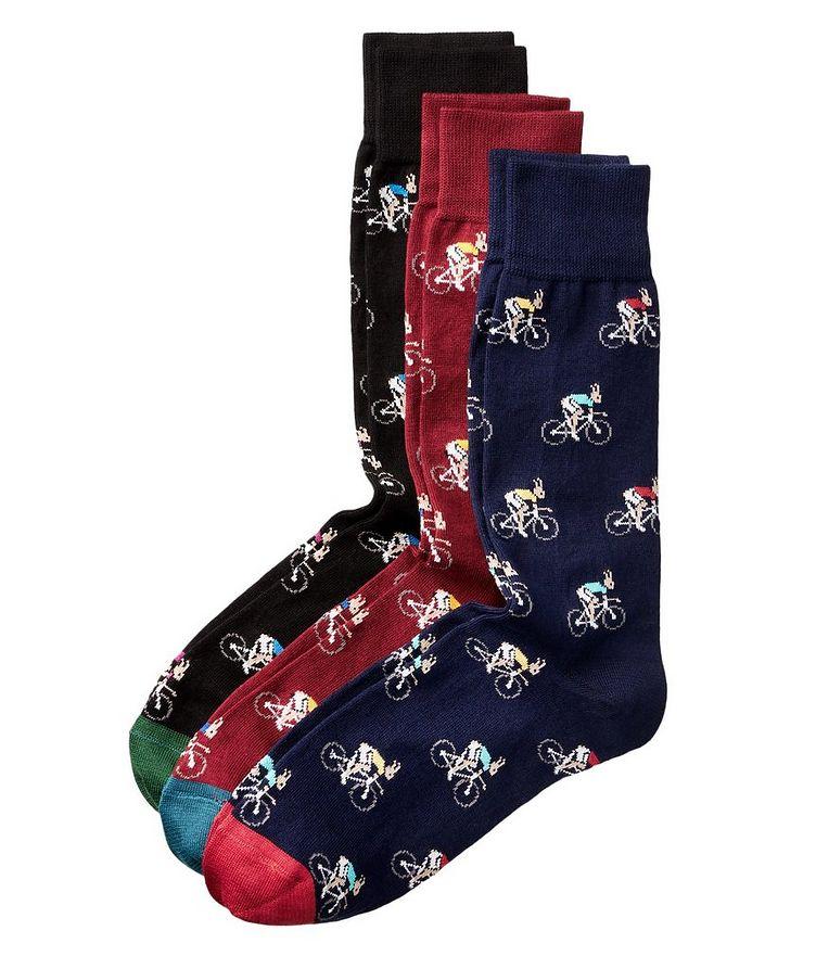 3-Pack Printed Cotton Socks image 0