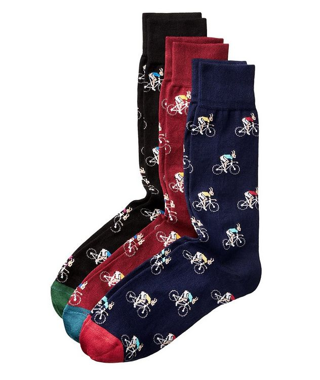 3-Pack Printed Cotton Socks picture 1
