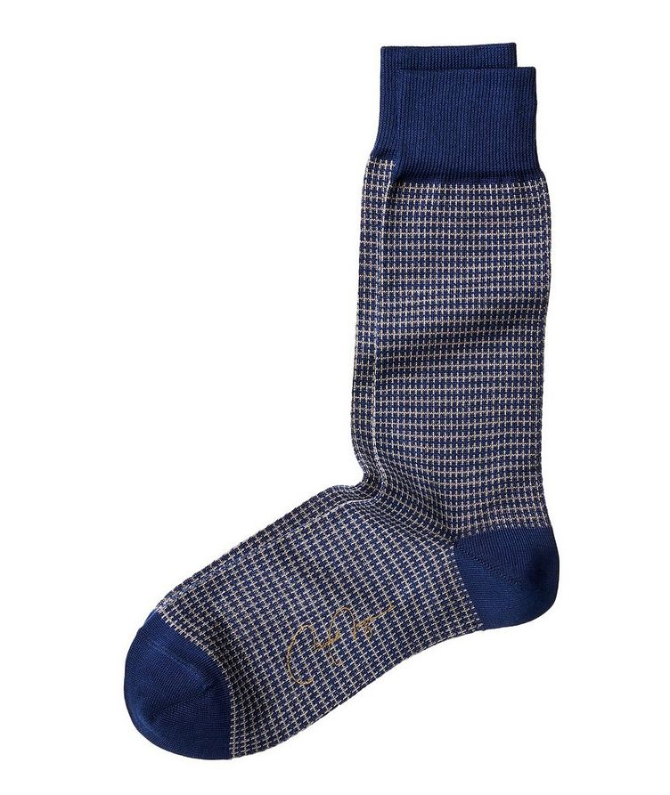 Printed Stretch Cotton-Blend Socks image 0