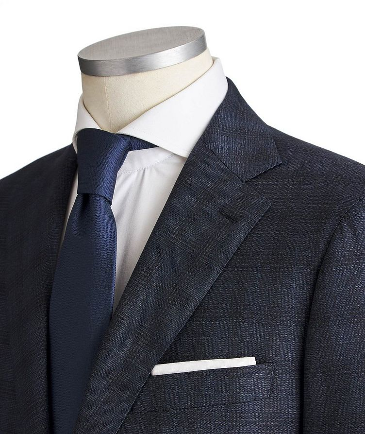 Slim Fit Checked Suit image 1