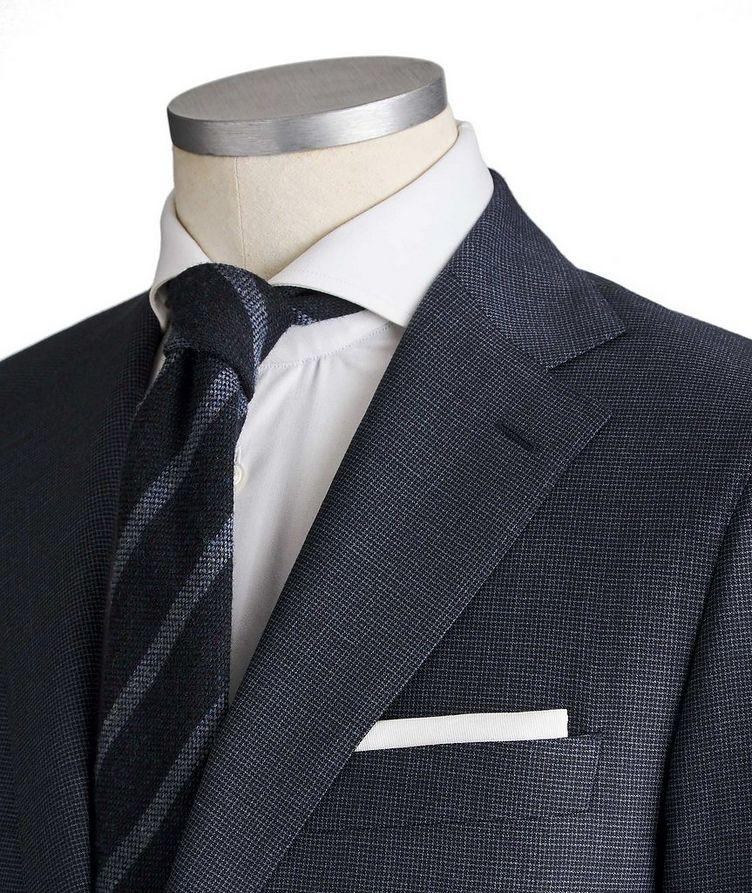 Slim Fit Bird's Eye Suit image 1