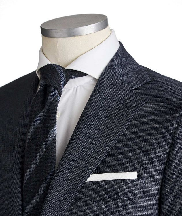 Slim Fit Bird's Eye Suit picture 2