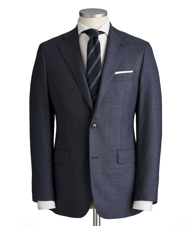 Slim Fit Bird's Eye Suit picture 1