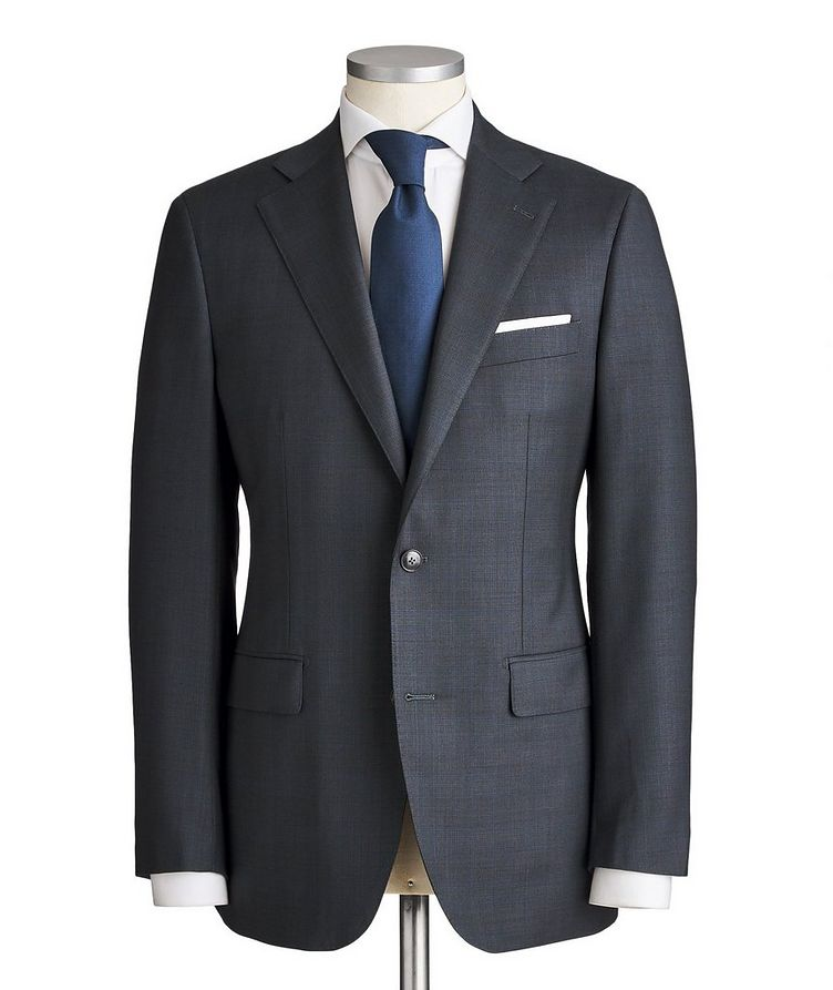 Slim Fit Checked Suit image 0