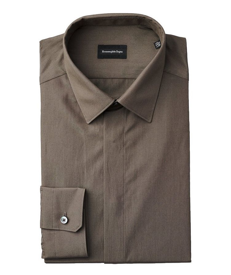Contemporary Fit Silk-Cotton Dress Shirt image 0