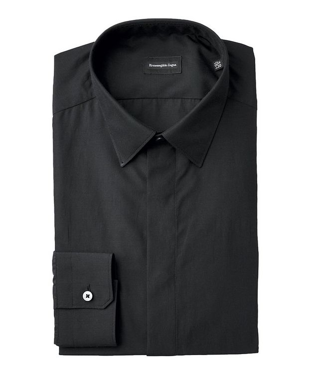 Contemporary Fit Silk-Cotton Dress Shirt picture 1