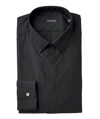 Ermenegildo Zegna Contemporary Fit Silk-Cotton Dress Shirt