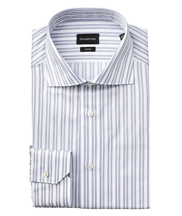 Slim Fit Striped Trofeo Cotton Dress Shirt picture 1