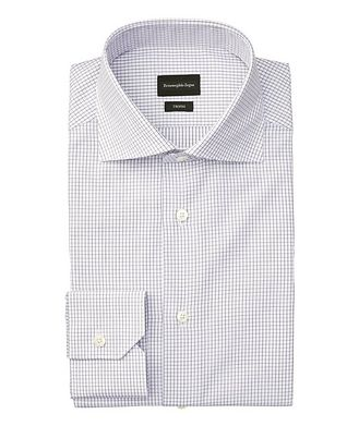 Ermenegildo Zegna Slim Fit Checked Trofeo Dress Shirt