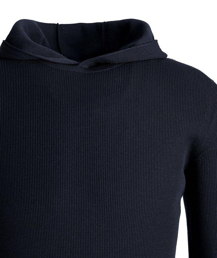 Ribbed-Knit Wool Hoodie image 1