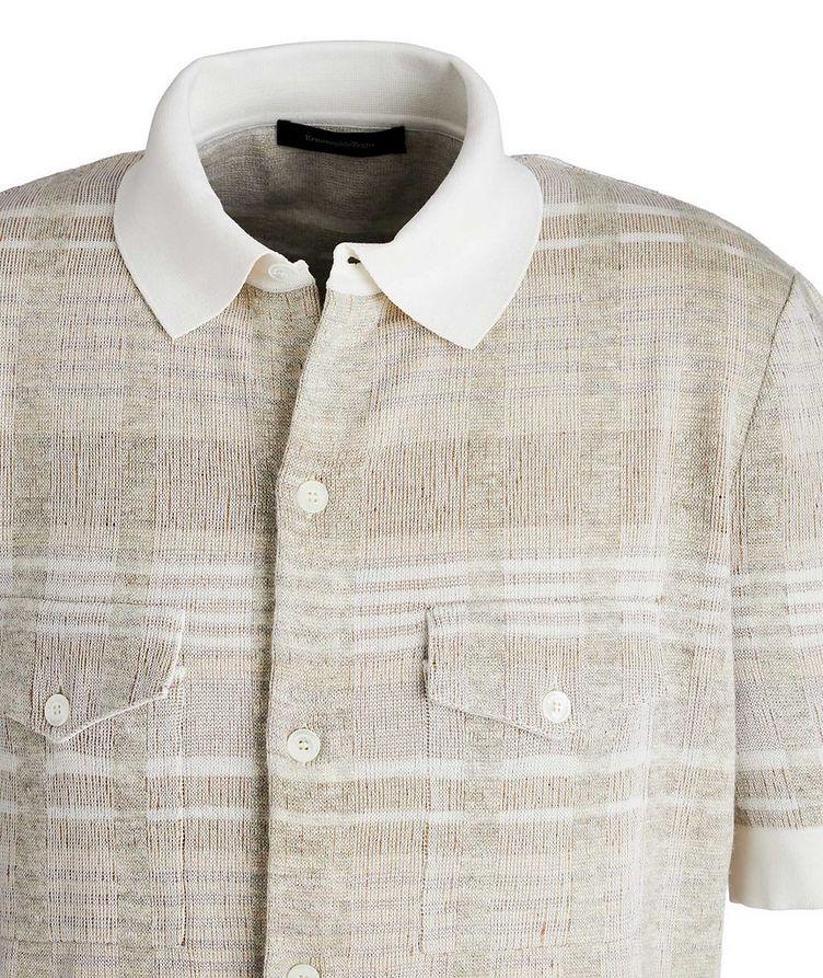 Short-Sleeve Cotton, Silk, Cashmere & Linen Sweater image 1
