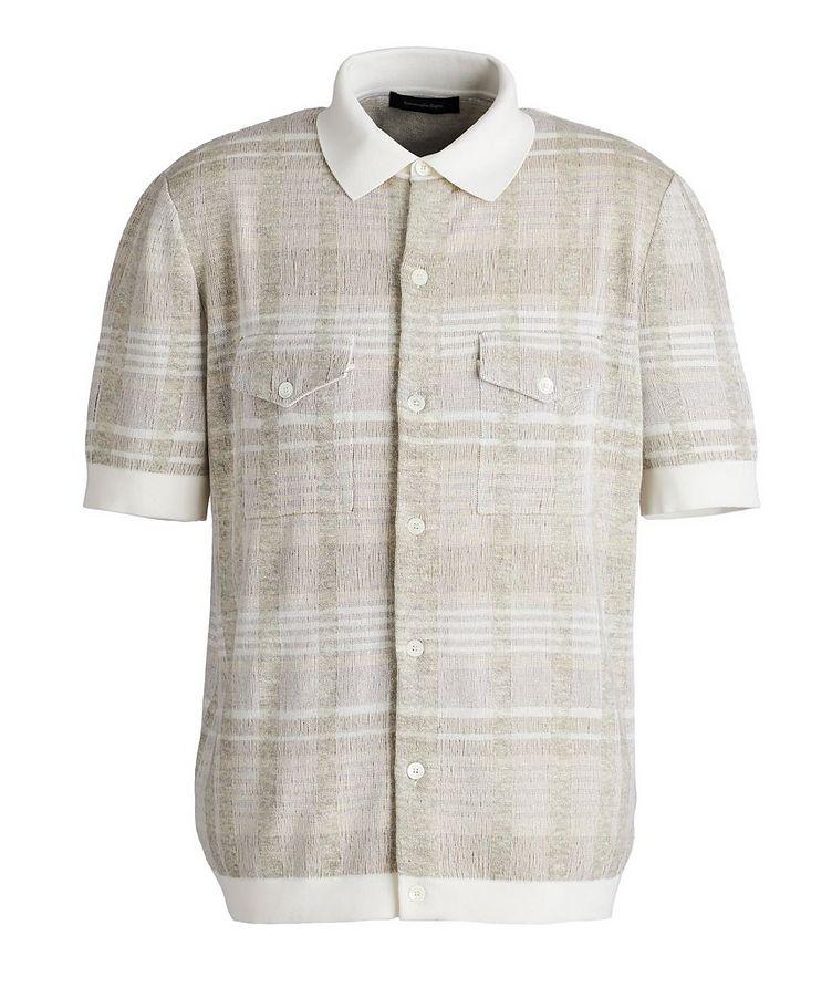 Short-Sleeve Cotton, Silk, Cashmere & Linen Sweater image 0