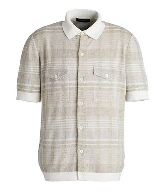 Ermenegildo Zegna Short-Sleeve Cotton, Silk, Cashmere & Linen Sweater