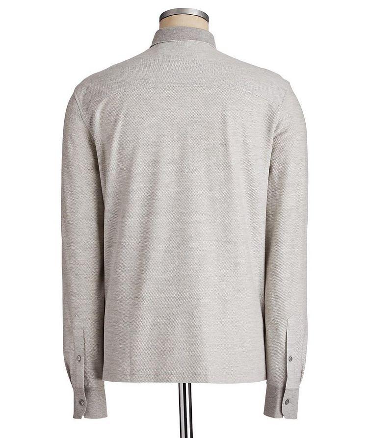Long-Sleeve Cotton-Silk Polo image 1
