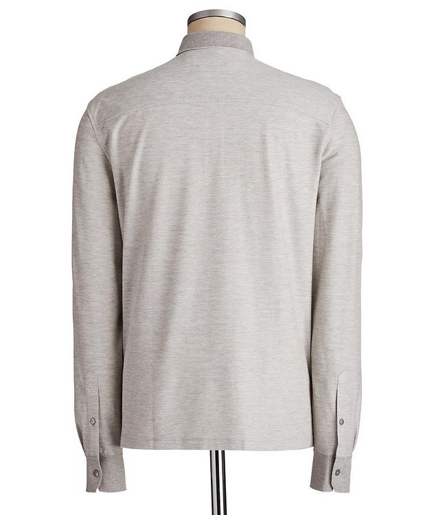 Long-Sleeve Cotton-Silk Polo picture 2