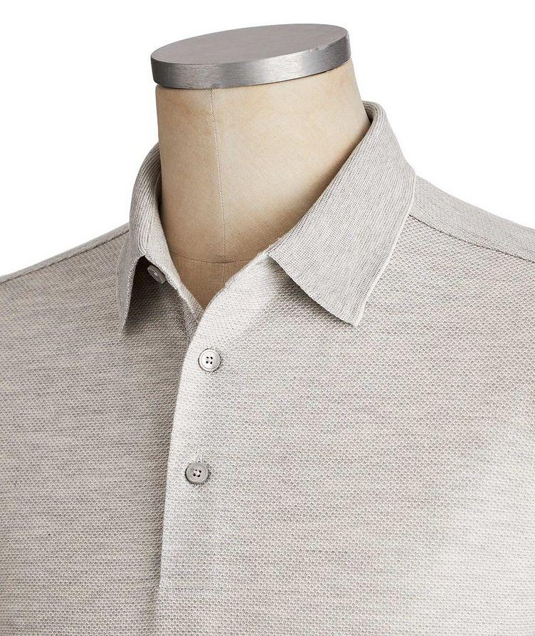 Long-Sleeve Cotton-Silk Polo image 2