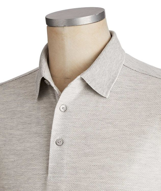 Long-Sleeve Cotton-Silk Polo picture 3