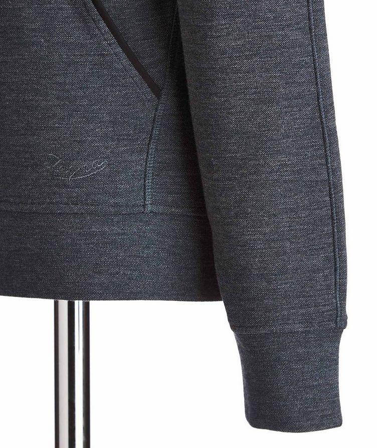 Cotton-Wool Drawstring Hoodie image 1