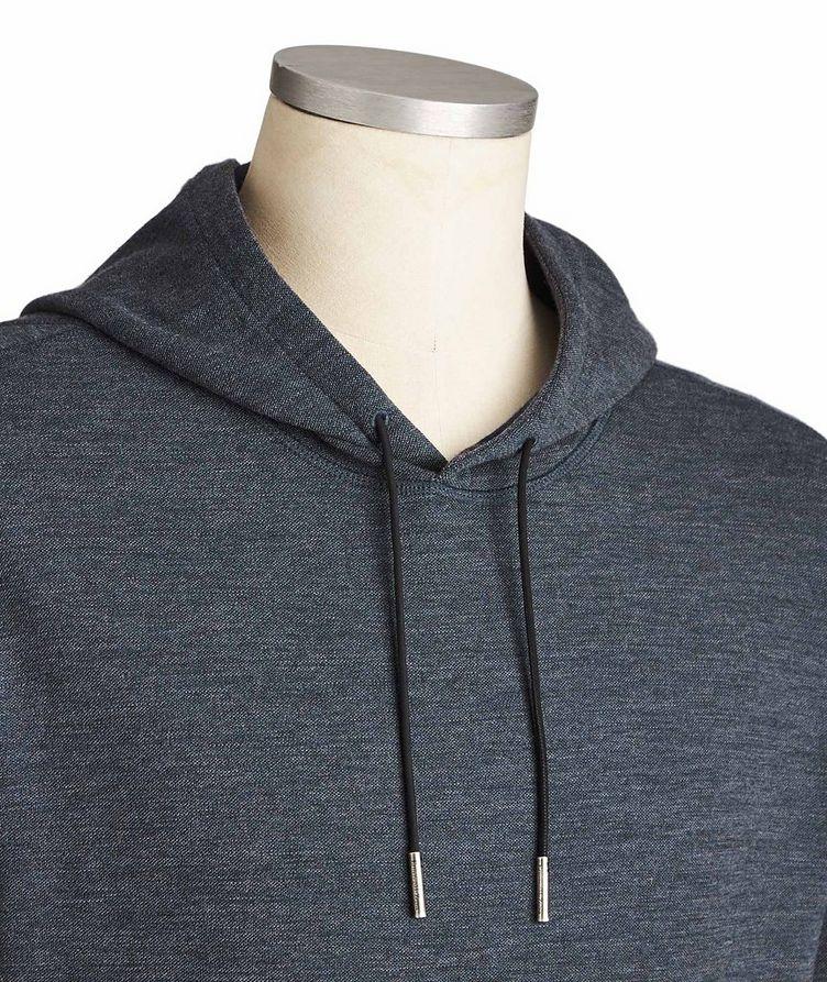 Cotton-Wool Drawstring Hoodie image 2