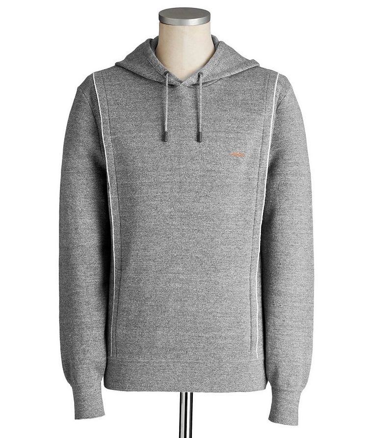 Couture XXX Linen-Wool Hoodie image 0