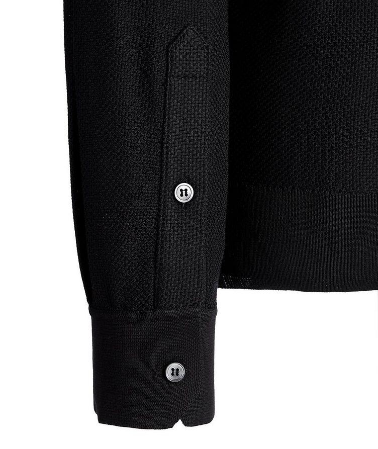 Polo texturé en soie à manches longues image 2