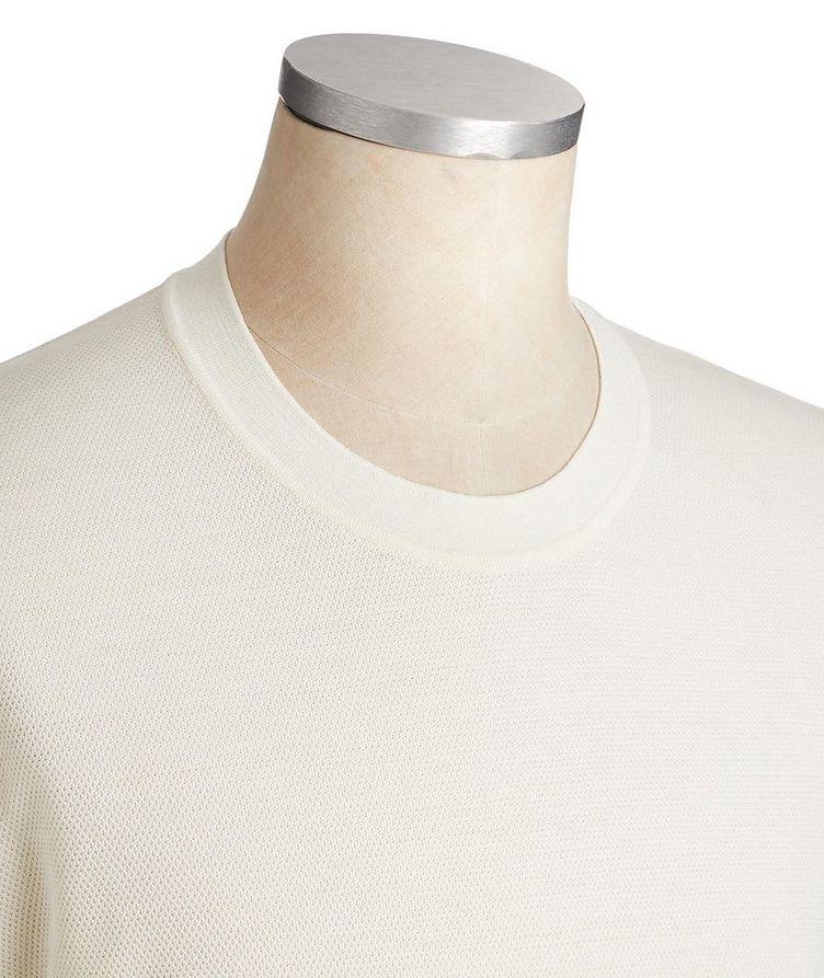 Textured Silk-Cotton T-Shirt image 1