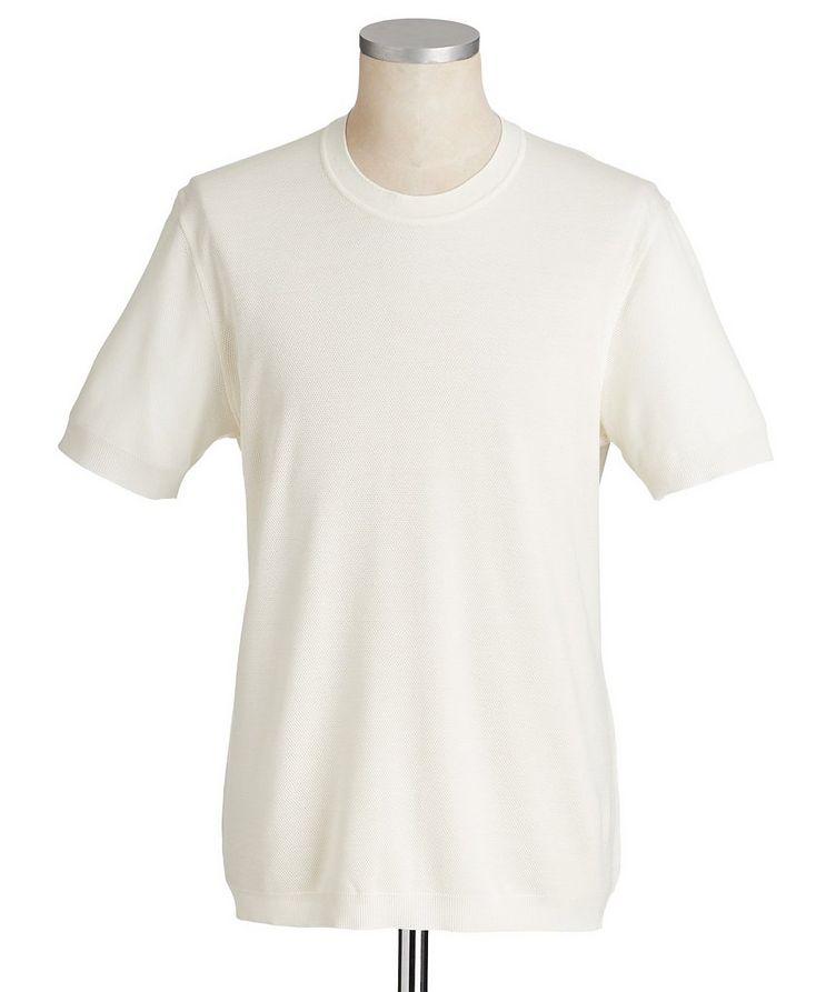 Textured Silk-Cotton T-Shirt image 0