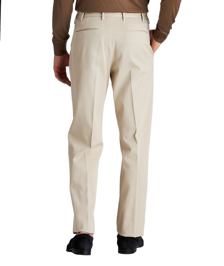 Pleated Stretch-Cotton Pants image 1