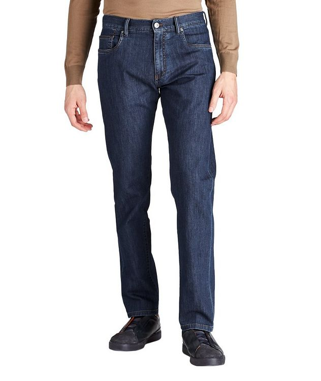 Slim Fit Stretch Cotton Jeans picture 1