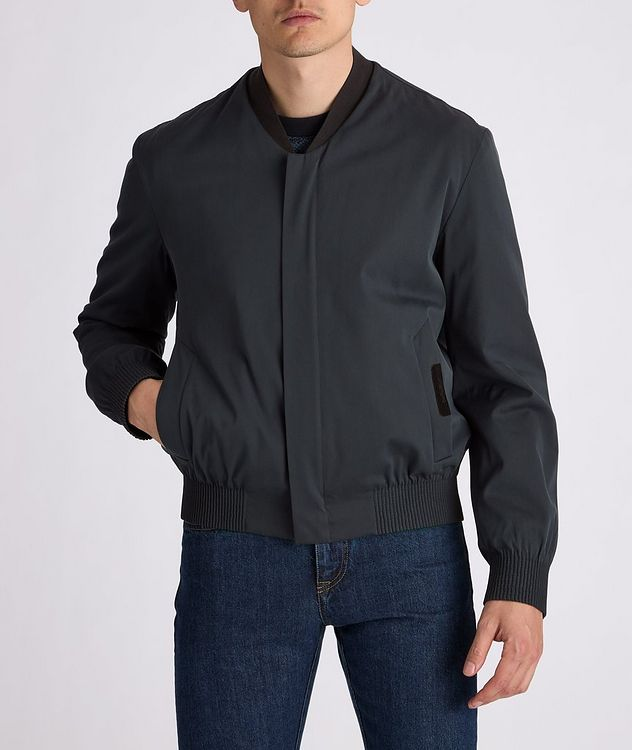 Couture Cotton-Silk Bomber Jacket picture 3