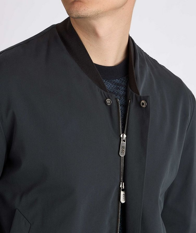 Couture Cotton-Silk Bomber Jacket image 4