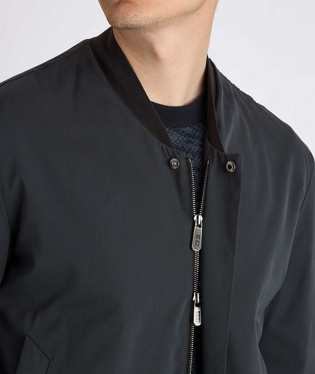 Couture Cotton-Silk Bomber Jacket picture 5