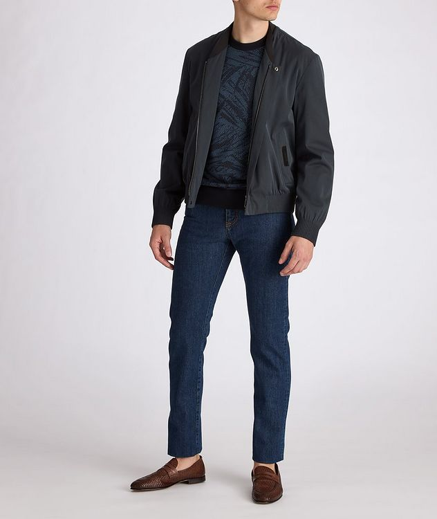 Couture Cotton-Silk Bomber Jacket picture 7
