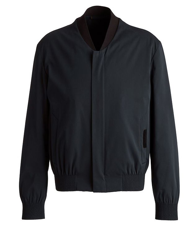 Couture Cotton-Silk Bomber Jacket picture 1