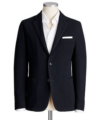 Ermenegildo Zegna Jerseywear Unstructured Wool-Cotton Sports Jacket