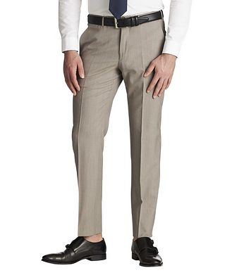 Ermenegildo Zegna Slim Fit High-Performance All Season Dress Pants