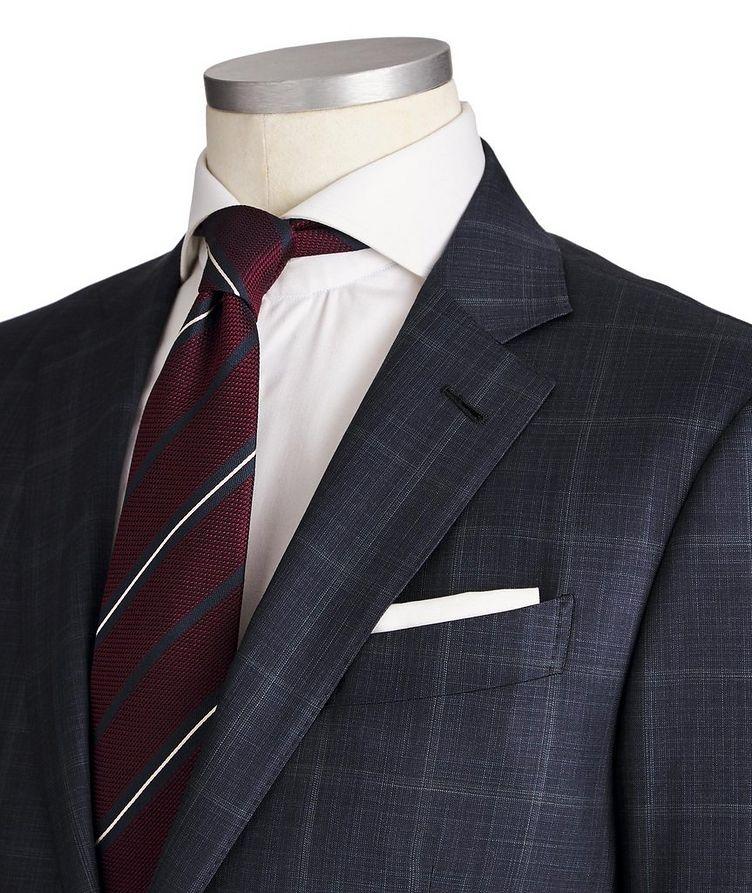 Milano Windowpane-Checked Wool-Silk Suit image 1