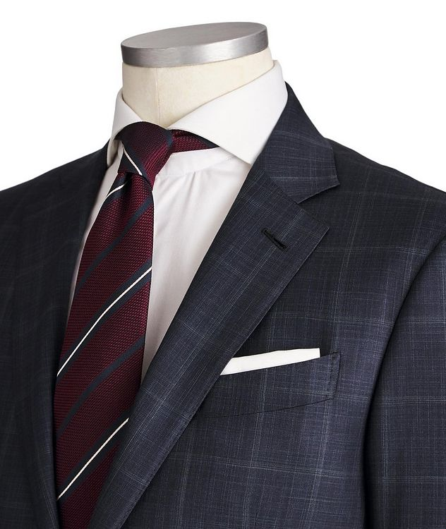 Milano Windowpane-Checked Wool-Silk Suit picture 2