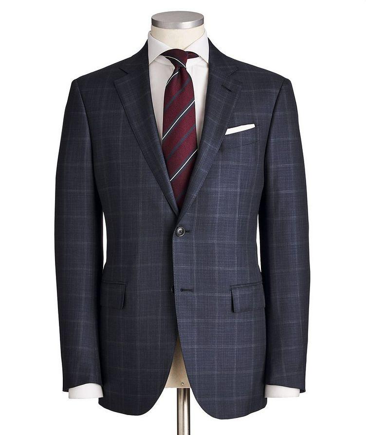 Milano Windowpane-Checked Wool-Silk Suit image 0