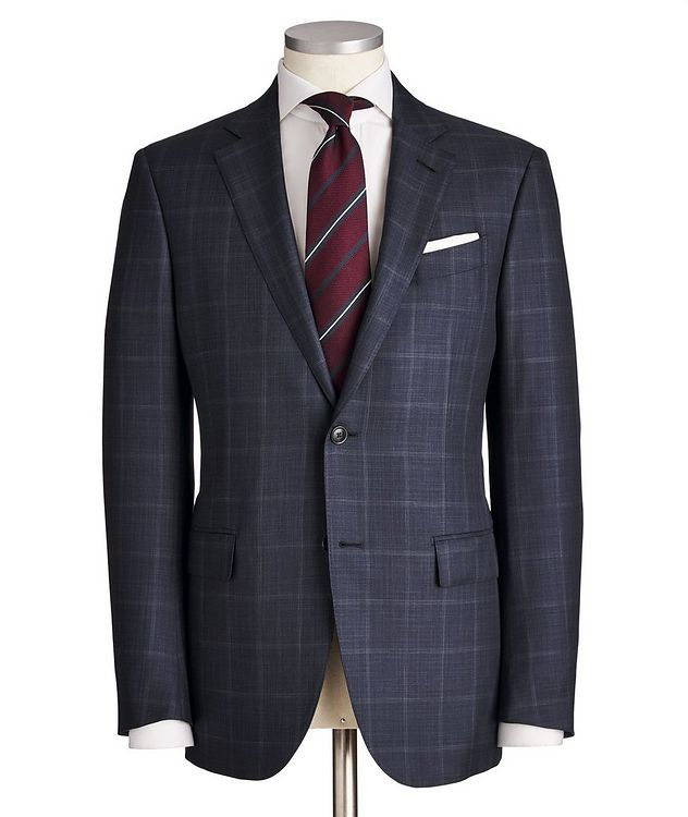 Milano Windowpane-Checked Wool-Silk Suit picture 1