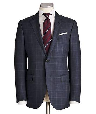 Ermenegildo Zegna Milano Windowpane-Checked Wool-Silk Suit