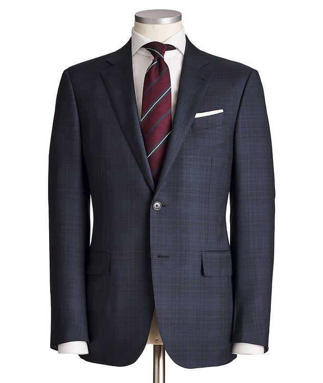 Milano AchillFarm Checked Wool-Silk Suit picture 1