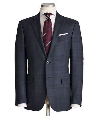 Ermenegildo Zegna Milano AchillFarm Checked Wool-Silk Suit