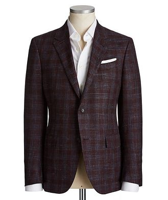 Ermenegildo Zegna Milano Easy Wool, Silk & Linen Sports Jacket