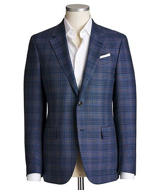 Ermenegildo Zegna Milano Easy Windowpane Check Jacket
