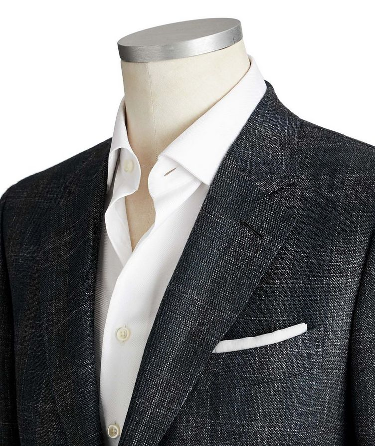 Couture Checked Wool, Silk & Linen Sports Jacket image 1