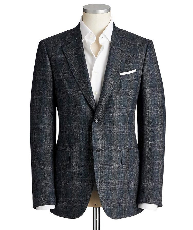 Couture Checked Wool, Silk & Linen Sports Jacket image 0