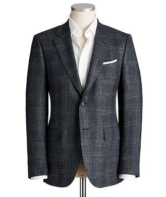 Ermenegildo Zegna Couture Checked Wool, Silk & Linen Sports Jacket